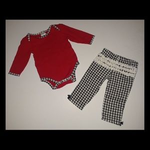 Houndstooth Long Sleeve Baby Outfit
